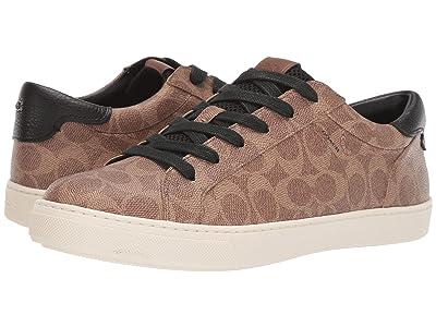 COACH C126 Signature Low Top Sneaker (Khaki Signature) Men