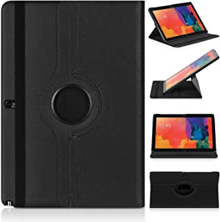 Ratesell Samsung Galaxy Note Pro 12.2 & Tab Pro 12.2 Rotating Case Cover - Vegan Leather 360 Degree Swivel Stand for NotePRO (SM-P900) & Tab PRO (SM-T900/T905) 12.2-inch Android Tablet (Black)