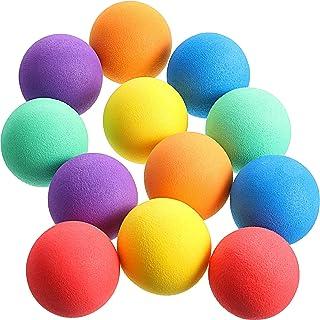 Gejoy 36 Pieces Soft Foam Balls Mini Sponge Play Balls Lightweight Colorful Indoor Balls for Indoor Outdoor Playing Crafts...