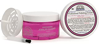 Pink Lady Sunshine Premium Jewelry Cleaner Kit with Metal Polish - Safe Jewelry Cleaner Solution for Diamonds, Gold, Silver, Wedding Rings, Earrings & All Jewelry Pieces