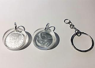 Ciondolo numismatico 5 lire