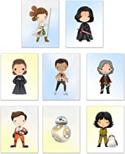 Last Jedi Poster Prints - Star Wars Kids Wall Decor - Set of 8 (8 inches x 10 inches) Photos