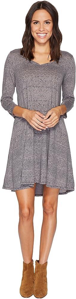 Mod-o-doc - Moroccan Trellis Elbow Sleeve Swing Dress