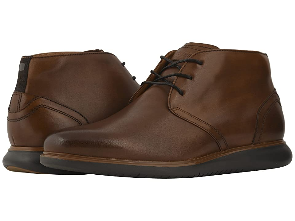 Florsheim Fuel Plain Toe Chukka (Cognac/Navy Sole) Men