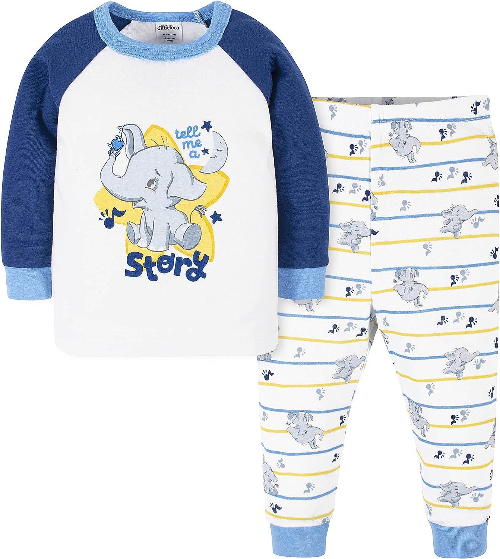 Canticos Baby Boys' 2-Piece Snug Fit Cotton Pajamas
