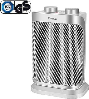 Ventilatore in Ceramica 750 /& 1500 W Grigio termoconvettore aria calda e fredda