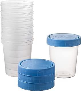25 Vakly 4oz Specimen Cups with Screw On Lids