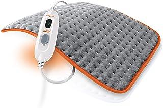 comprar comparacion Daga Almohadilla eléctrica FLEXY-HEAT COLORS 2, Microfibra Ultrasuave, Gris y Naranja, 45 x 35 cm