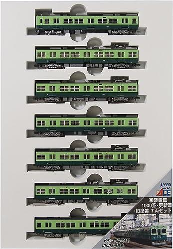 opciones a bajo precio Medidor de micro As As As N Keihan serie 1000 y los coches actualizados y pintura vieja 7-car set modelo A9990 tren de ferrocarril  venta