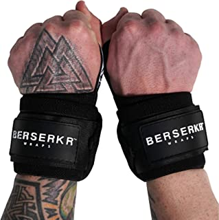 "Norse Fitness Berserkr Gym Wrist Support Wraps For Weightlifting, Benching & Crossfit – 18"" Compression Hand Wrist-Thumb Support For Men & Women 