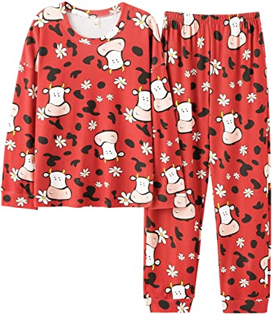 Pijamas Mujer Camisón Pijamas Rojos para Mujer, Ropa De ...