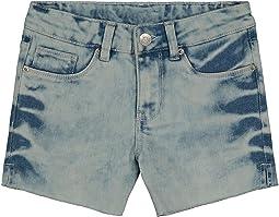 Bleached Side Vent Shorts (Big Kids)