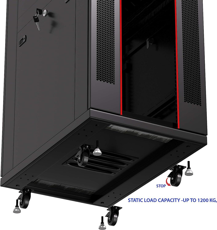 Server Rack - Locking Cabinet - Network Rack - Av Cabinet - 37 U - Rack Mount - Free Standing Network Rack- Server Cabinet - Caster Leveler - Rack Shelf - Cooling Fan - Thermostat - PDU Sysracks