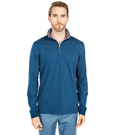 Robert Graham Triple Crown 1/4 Zip Sweater (Indigo) Men