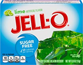 Jell-O Lime Sugar-Free Gelatin Mix (0.6 oz Boxes, Pack of 6)