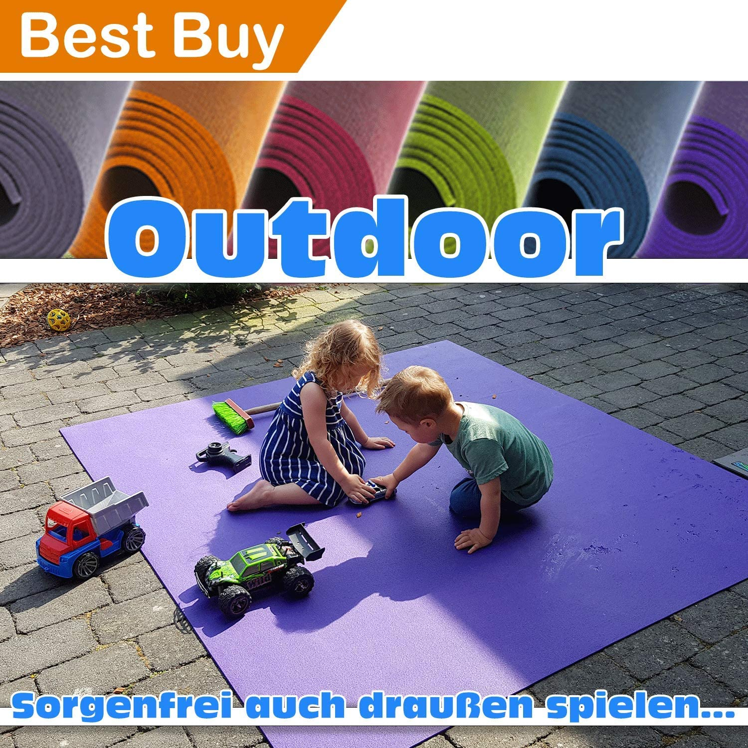 SanoSoft outdoor crawling mat, made in Germany
