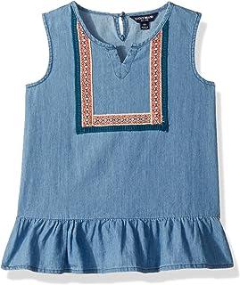 Lucky Brand Girls' Sleeveless Fashion Tank Top