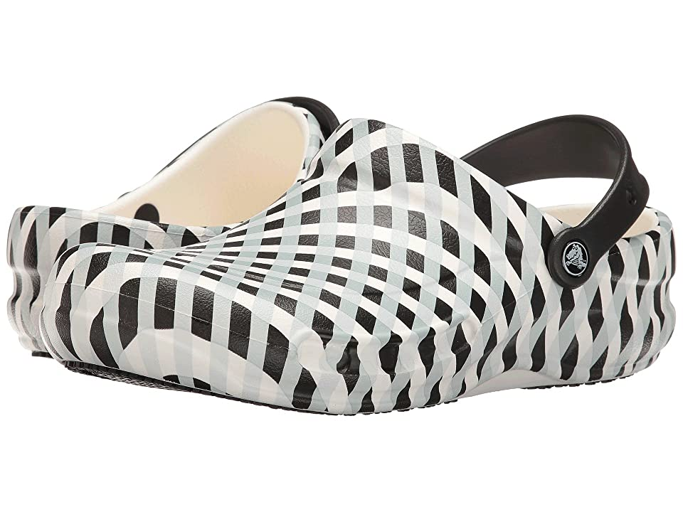 Crocs Bistro Gingham (White) Clog Shoes