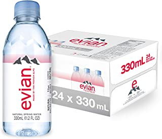 Evian Natural Spring Water 330 ml, 24 pack