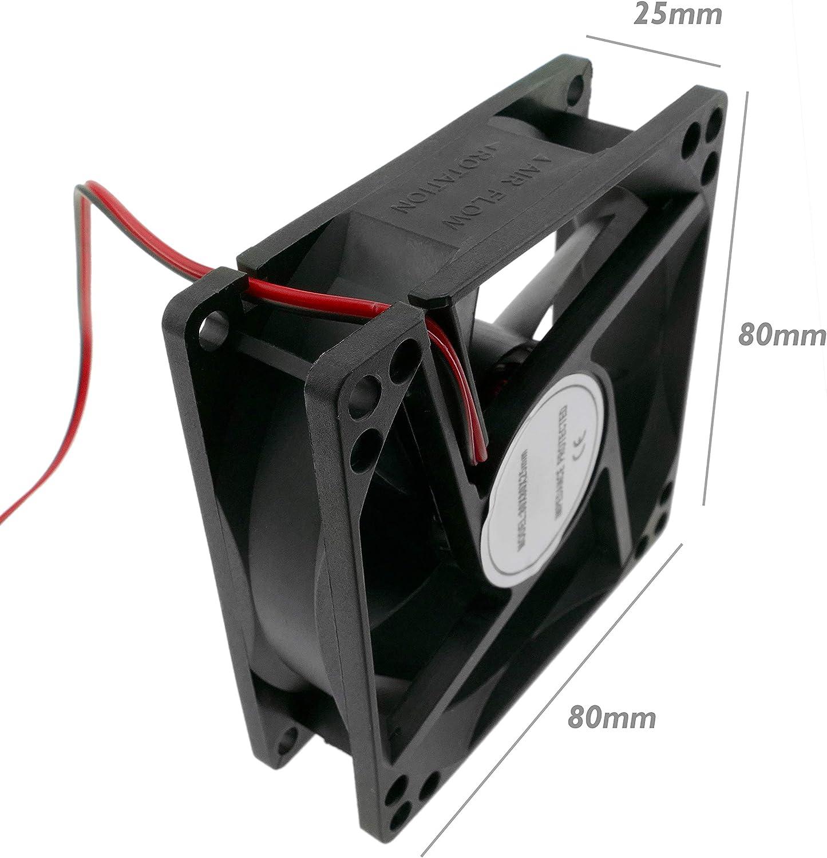 BeMatik - Ventilador de chasis 80x80x25 mm de 24 VDC para Caja de Ordenador (VL026)