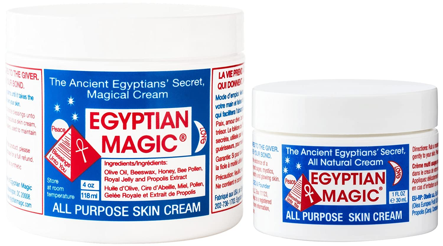 Egyptian Magic All Purpose Skin Cream   Skin, Hair, Anti Aging, Stretch Marks   100% Natural Ingredients   5 Ounce