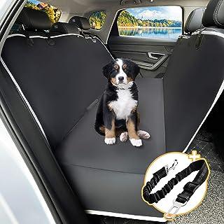 Toozey Hundedecke Auto Rückbank mit Seitenschutz, wasserdichte Kratzfest Autoschondecke Hund Rücksitz mit Anschnallgurt für Auto/Kombis/Van/SUV, 147x137 cm