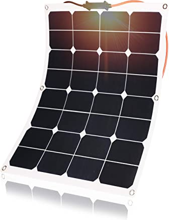 KINGSOLAR™ Flexible Solar Panel 50W 18V ETFE Bendable Ultra Thin Solar Charger with MC4 Cable Charging for Car Boat Battery