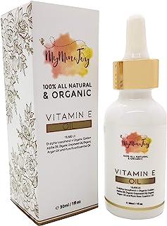 Vitamin E Oil for Skin, Face, Lip Gloss & Nails - 100% All Natural Pure & Organic - Cold Pressed - Prevents...