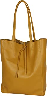 AmbraModa GL032 - Borsa italiana, borsa a mano da donna, shopper, borsa a spalla, con piccola sacca interna realizzata in ...