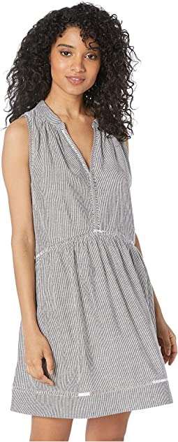 Fine Stripe Ladder Detail Dress