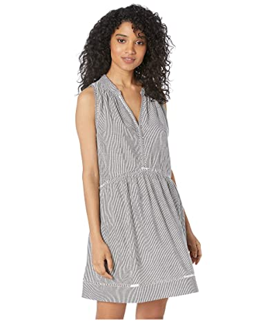Seafolly Fine Stripe Ladder Detail Dress (White) Women