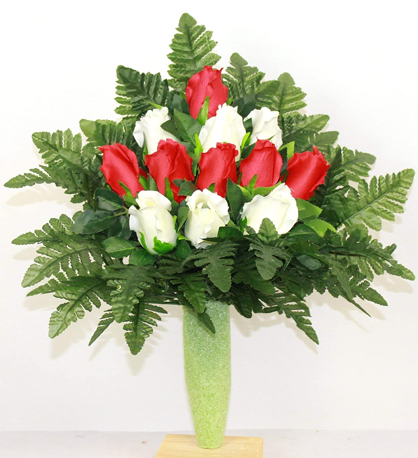 Red and White A surprise price A surprise price is realized is realized Rose Flower Mausoleum Cemetery Arrangement