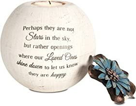 Pavilion Gift Company 19095 Stars in The Sky Candle Holder, 5-Inch, Terra Cotta Beige