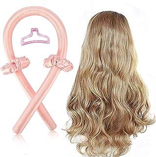 Tik Tok Heatless Curling Rod Headband,No Heat Curls Silk Ribbon Hair Rollers Sleeping Soft Headband Wave Formers Hair Curl...