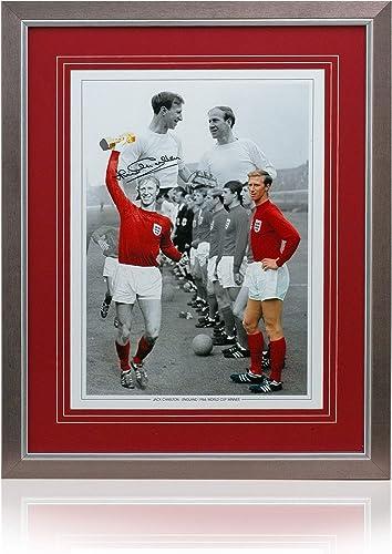 British Sports Museum Jack Charlton Montage de Football d'Angleterre 40,6 x 30,5 cm