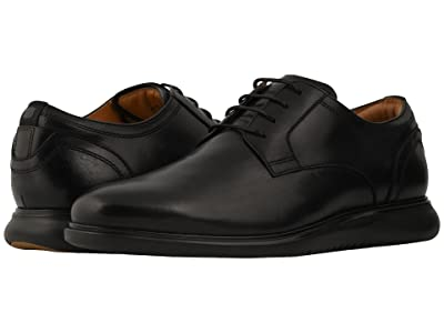 Florsheim Fuel Plain Toe Oxford (Black/Black Sole) Men