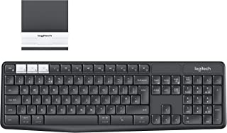 Logitech K375s Multi-Device Wireless Keyboard and Stand for Windows/Apple/Android/Chrome, Wireless 2.4GHz and Bluetooth, F...
