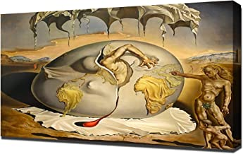 Lilarama USA Salvador Dali Geopolitical Child Watching The Birth of The New Man Framed Canvas Art Print Reproduction