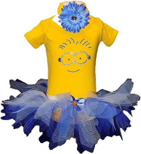 Kids & Baby Minion Rhinestone Bling T-shirt & Tutu Set With Headband (2-3 yrs)