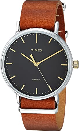 96e438f34 Timex Fairfield Two-Piece Strap 3-Hand at Zappos.com