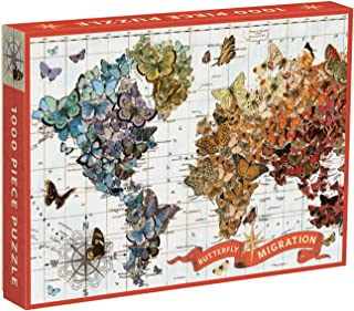 Galison Wendy Gold Butterfly Migration 1000 Piece Puzzle