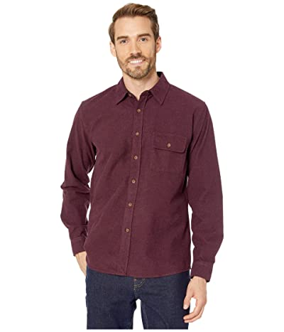 The Normal Brand Chamois Button Up Shirt (Wine) Men