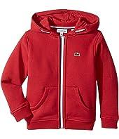 Lacoste Kids - Full Zip Fleece Hoodie (Toddler/Little Kids/Big Kids)