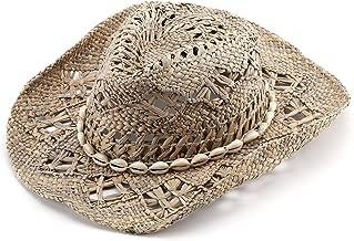 JOOWEN Classic Straw Cowboy Cowgirl Hat Bendable Brim