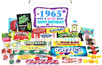 Woodstock Candy ~ 1965 54th Birthday Gift Box Nostalgic Retro Candy Mix from Childhood for 54 Year Old Man or Woman Born 1965 Jr