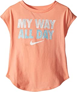 Nike Kids - I Want It All Modern Short Sleeve Tee (Toddler)