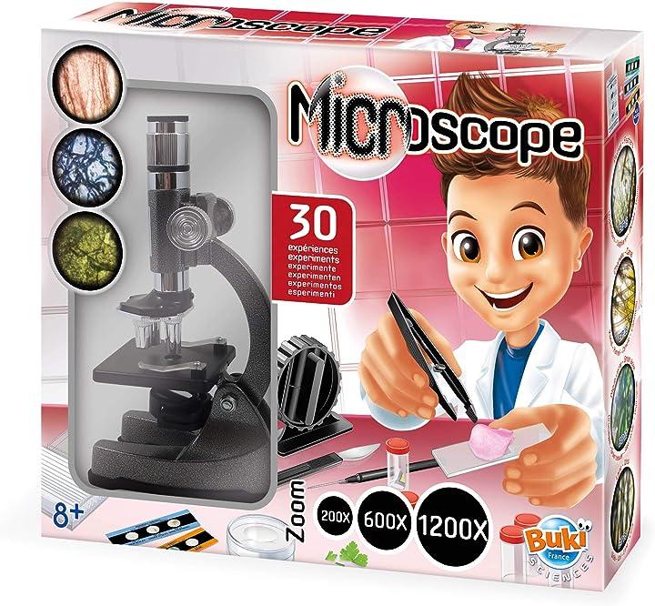 Microscopio per bambini buki france ms907b - microscopio 30 esperimenti