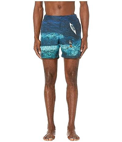 Orlebar Brown Bulldog Photographic Swim Trunk (Deep Sea) Men