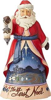 Enesco Jim Shore Heartwood Creek First Noel Santa Figurine, 9.8