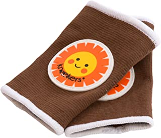 Ah Goo Baby Kneekers Baby Knee Pads for Crawling, Unisex, My Sunshine Toffee Pattern, for Lean Legs